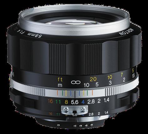 VOIGTLÄNDER 58 mm f/1,4 MF Nokton SL II-S pro Nikon stříbrný