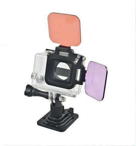 10Bar Sada červený a fialový filtr pro GoPro HERO 3+/4