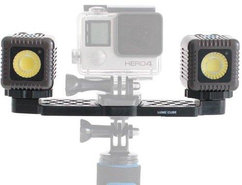LUME CUBE GoPro Kit - kovově šedá - rameno a světlo pro GoPro