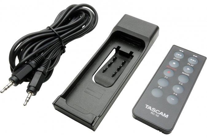 TASCAM RC-10 dálkový ovladač k audio rekordérům, možno použít s i bez kabelu