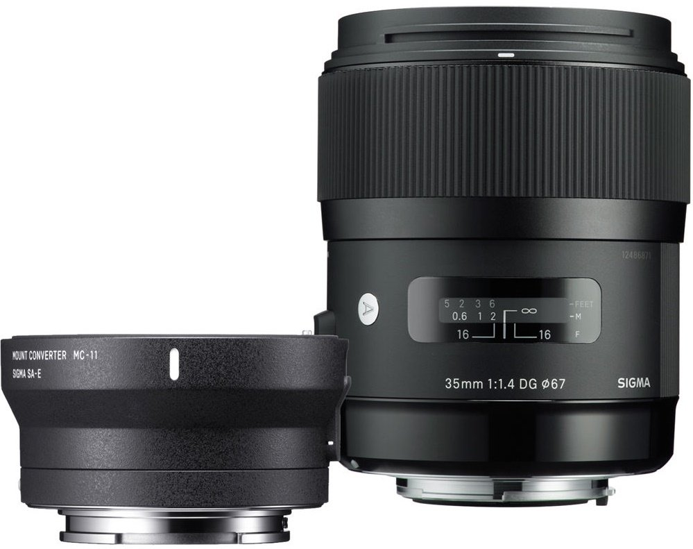 SIGMA 35 mm f/1,4 DG HSM Art pro Canon + adaptér MC-11 pro Sony E