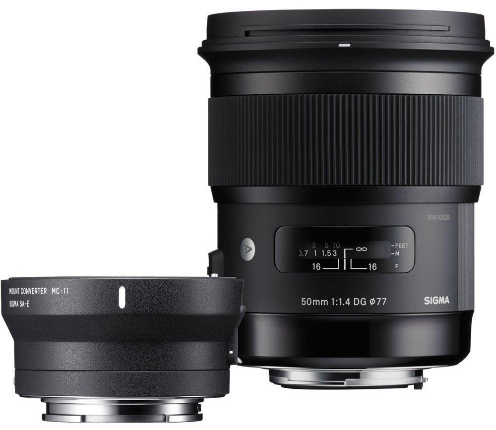 SIGMA 50 mm f/1,4 DG HSM Art pro Canon + adaptér MC-11 pro Sony E