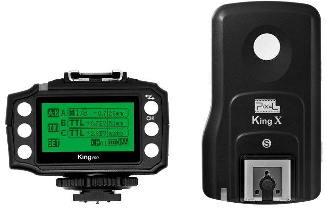 PIXEL KING PRO rádiový odpalovač/přijímač blesku Sony ADI (set 1+1)