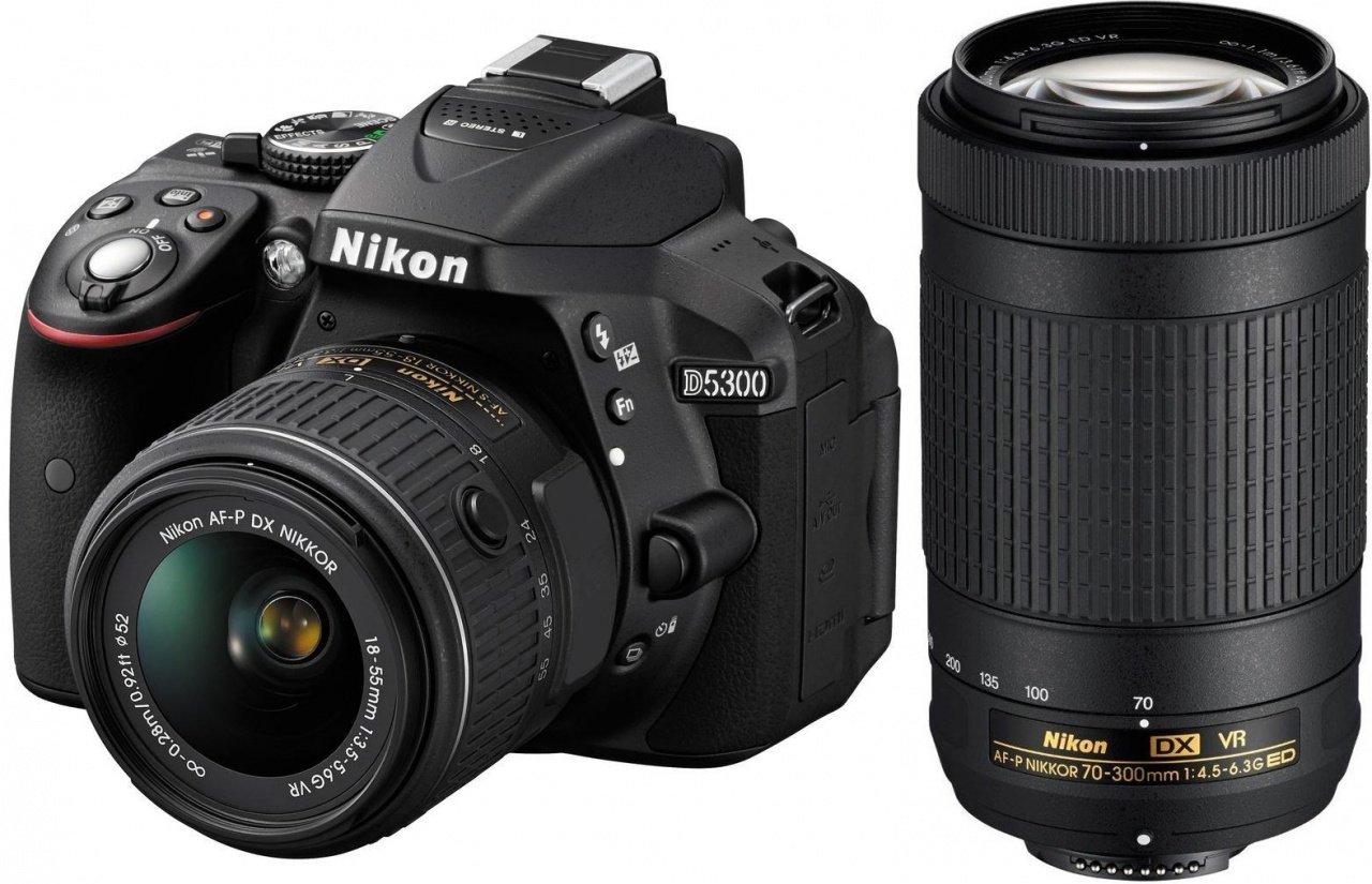 NIKON D5300 + 18-55 mm AF-P VR + 70-300 mm VR