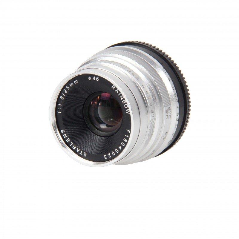 STARLENS Rainbow 25 mm f/1,8 pro Sony E (APS-C) stříbrný