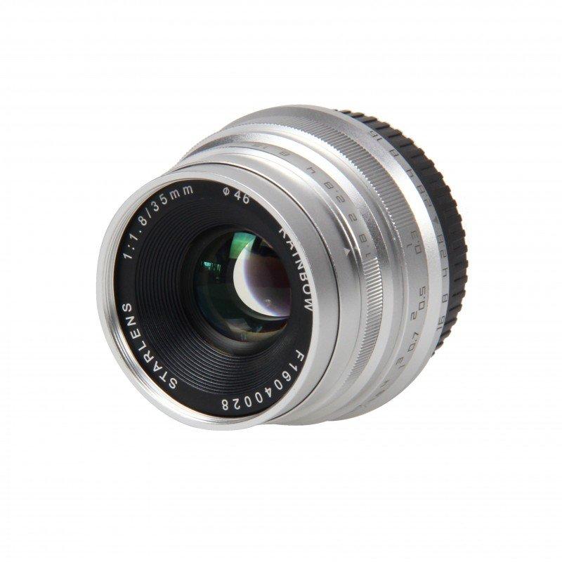 STARLENS Rainbow 35 mm f/1,8 pro Sony E (APS-C) stříbrný