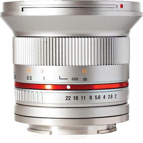 SAMYANG 12 mm f/2 NCS CS pro Olympus/Panasonic MFT stříbrný