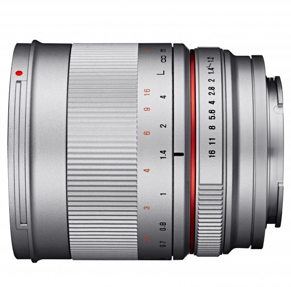 SAMYANG 50 mm f/1,2 AS UMC CS pro Canon EOS M stříbrný
