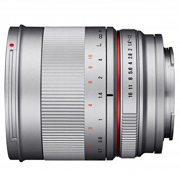 SAMYANG 50 mm f/1,2 AS UMC CS pro Fujifilm X stříbrný