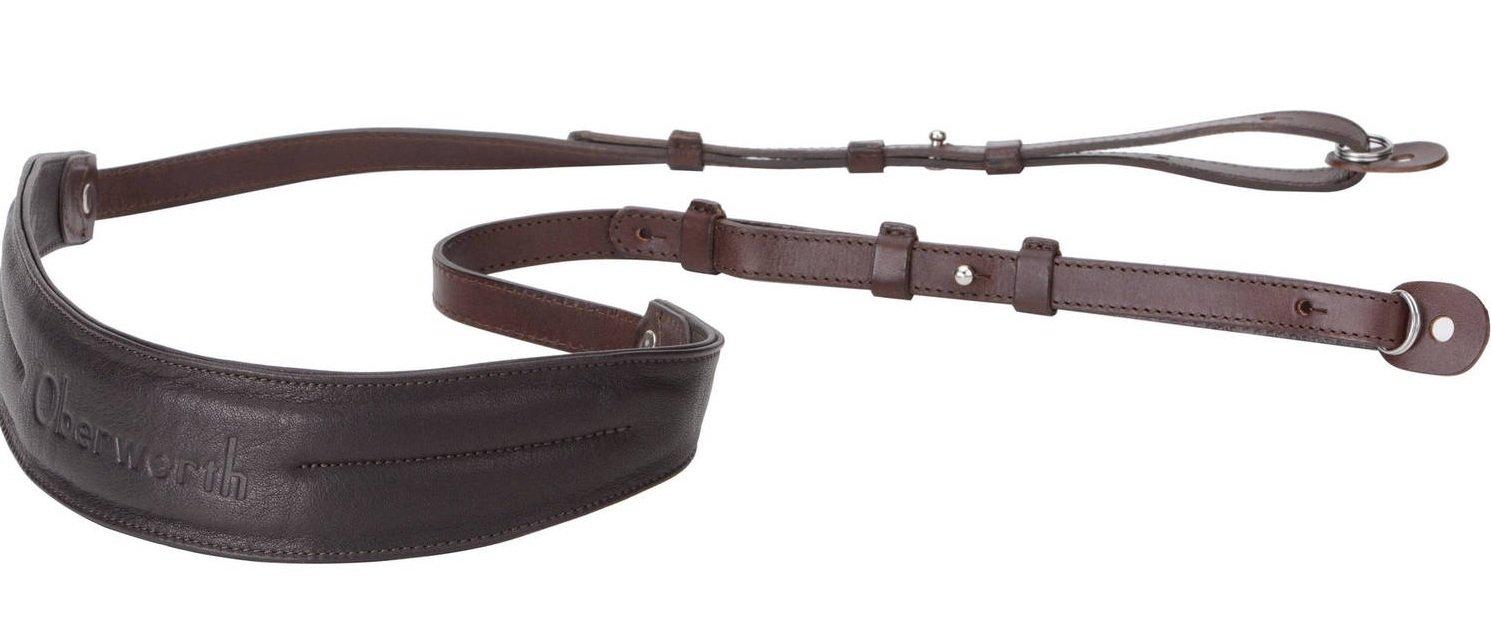 OBERWERTH popruh kožený s ramení sekcí pro DSLR černý/tmavě hnědý
