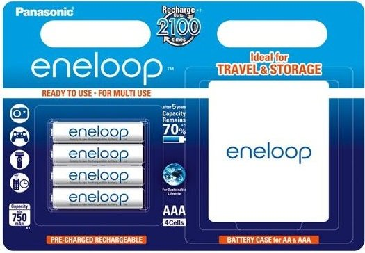 PANASONIC Eneloop nabíječka + 4ks AAA NiMH 750 mAh