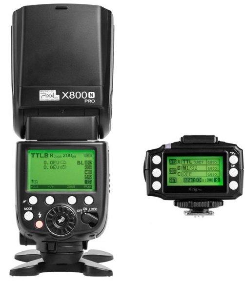 PIXEL X800N PRO + vysílač KING sada pro Nikon