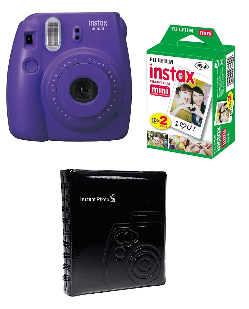 FUJIFILM INSTAX Box Medium MINI 8 fialový