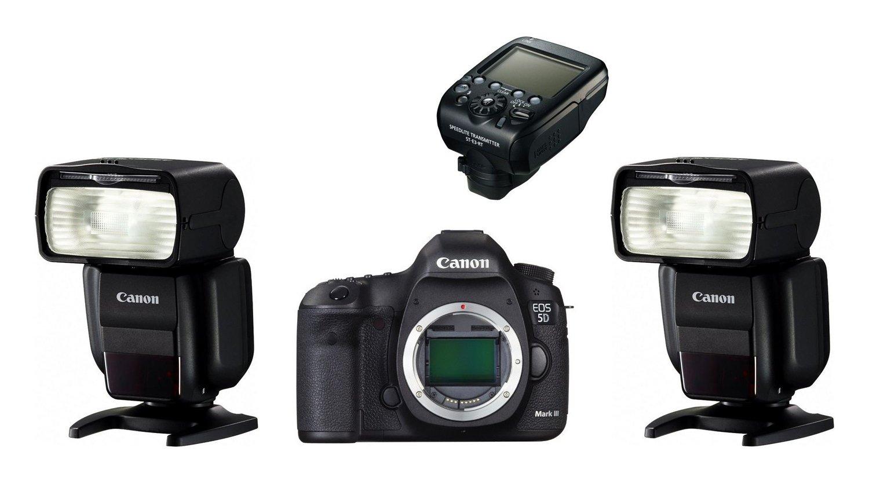 CANON EOS 5D Mark III + blesk 600EX-RT + ST-E3