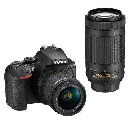 NIKON D5600 + AF-P 18-55 VR + 70-300VR vystavený kus