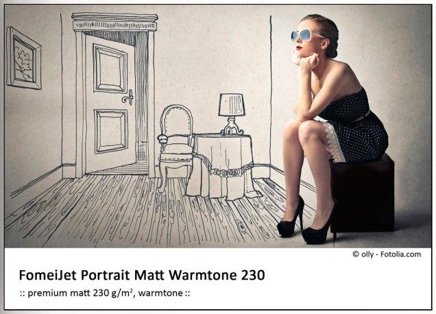 FOMEI Injekt 43,2cmx30m FomeiJet Portrait Matt Warmtone 230