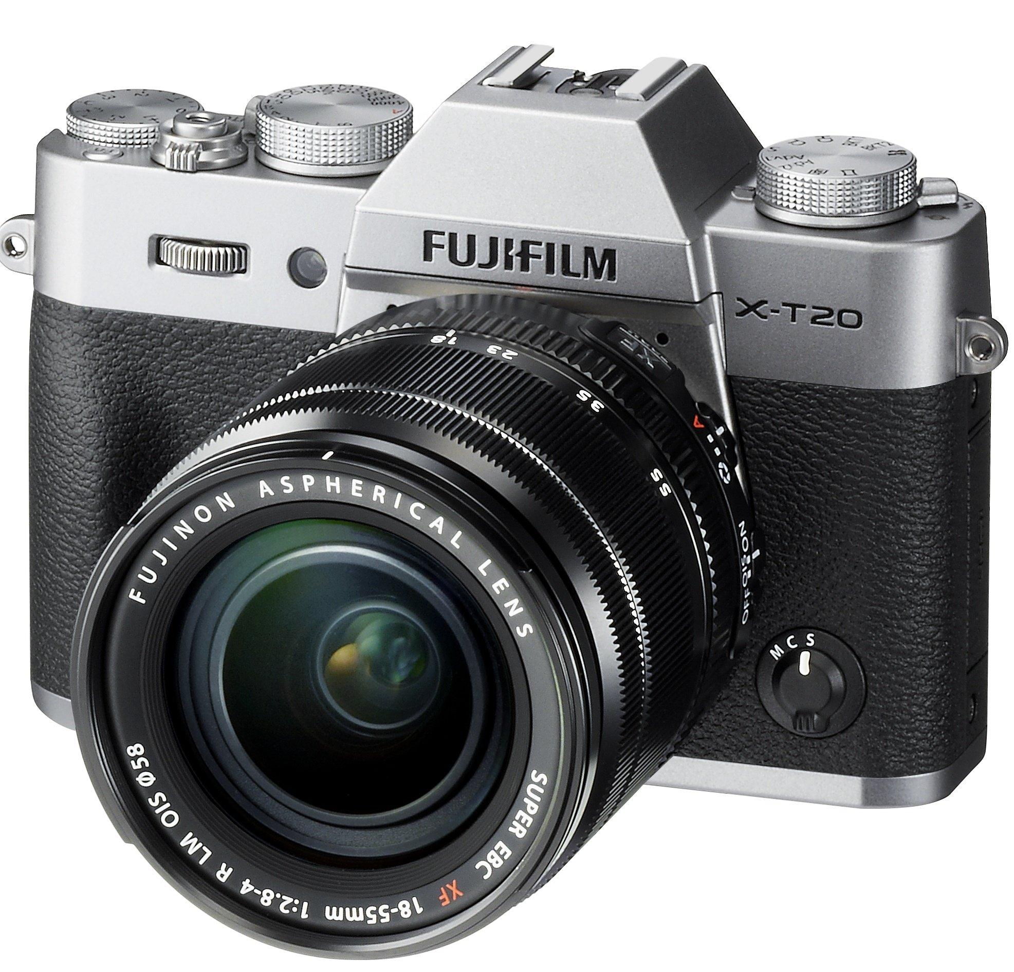 FUJIFILM X-T20 stříbrný + XF 18-55 mm
