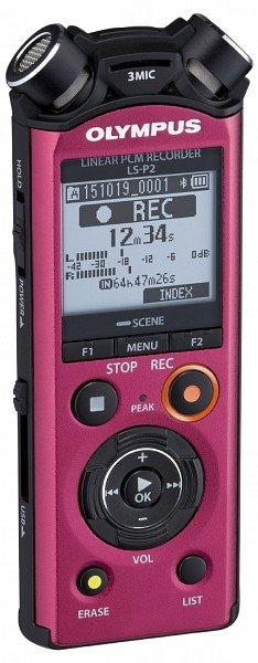 OLYMPUS diktafon LS-P2 červený