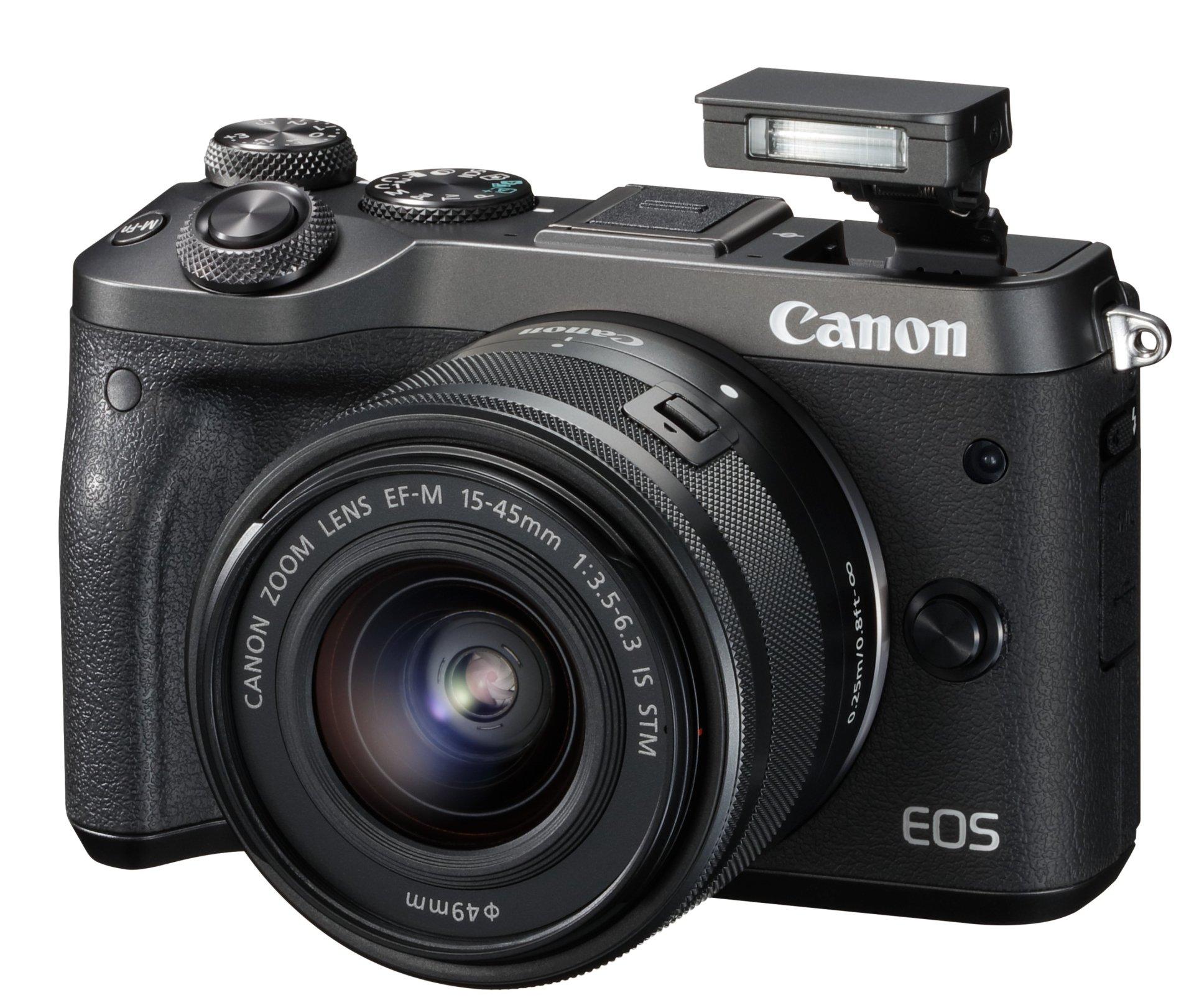 CANON EOS M6 černý + 15-45 mm