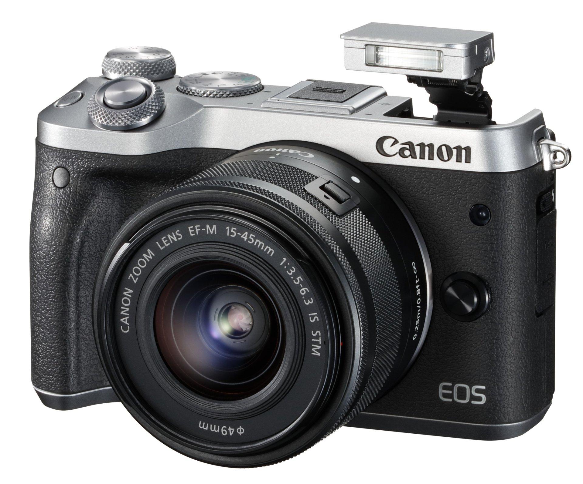 CANON EOS M6 stříbrný + 15-45 mm