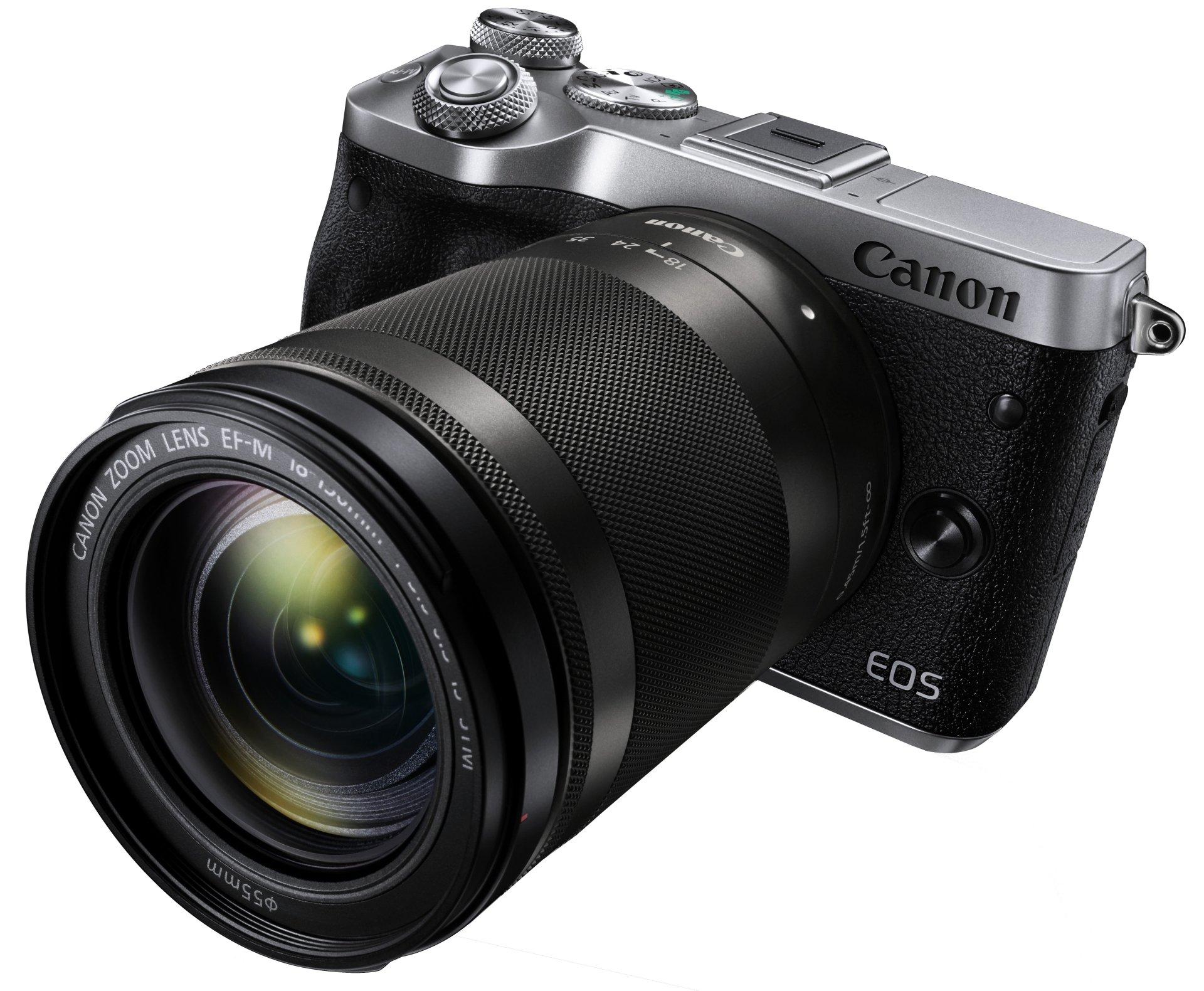CANON EOS M6 stříbrný + 18-150 mm