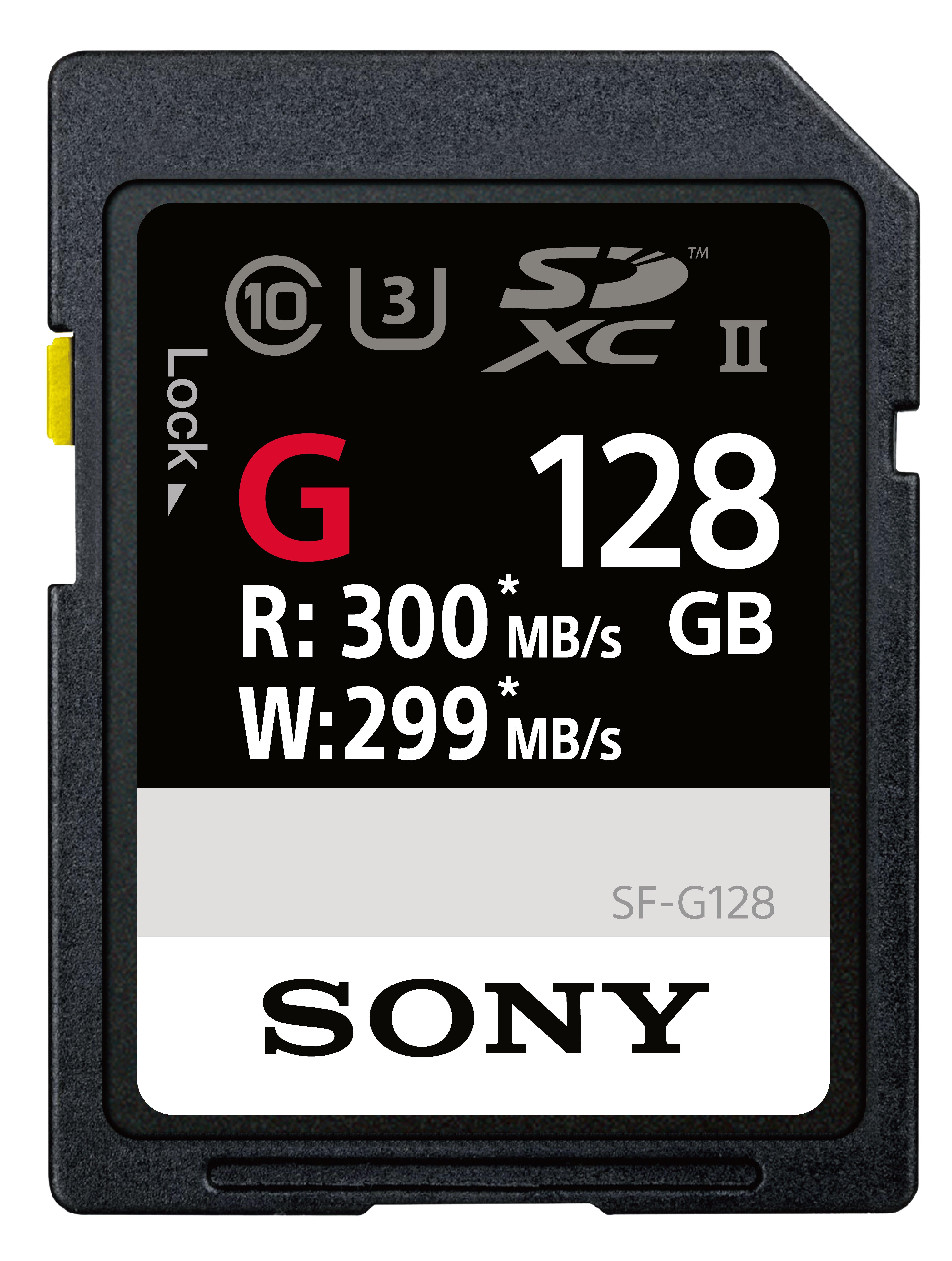 SONY SDXC 128GB UHS-II SF-G 299MB/s
