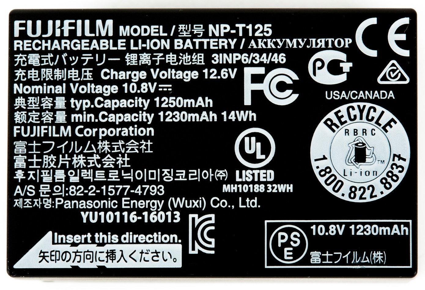 FUJIFILM GFX NP-T125 baterie