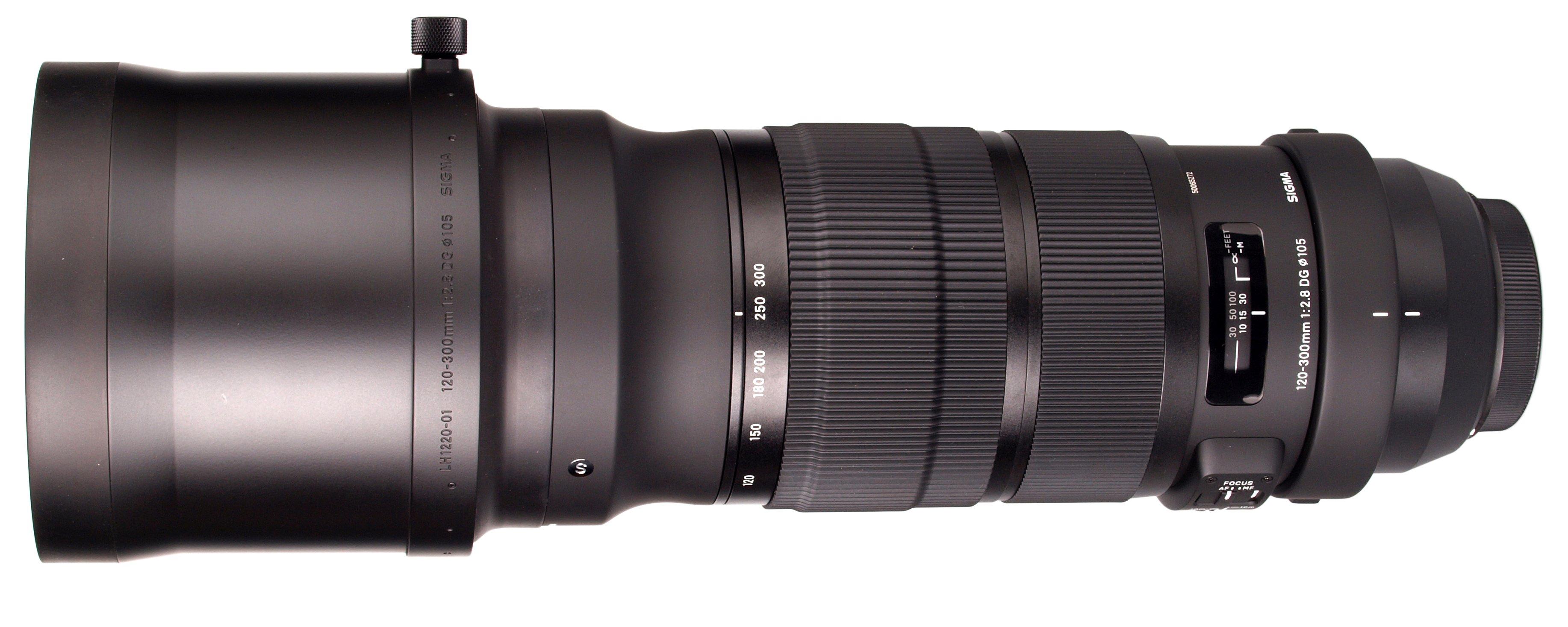 SIGMA 120-300 mm f/2,8 DG OS HSM Sports pro Canon - rozbalený