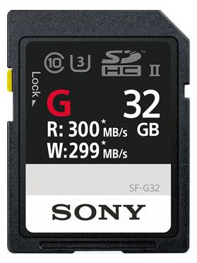 SONY SDHC 32GB UHS-II SF-G 299MB/s