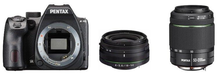 PENTAX K-70 + 18-50 mm + 50-200 mm