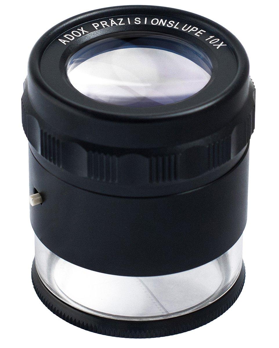 ADOX lupa příložná 10x s LED osvětlením