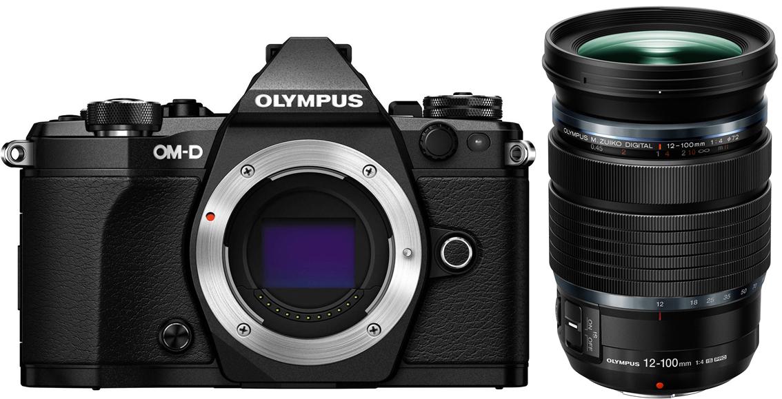 OLYMPUS E-M5 Mark II černý + 12-100 IS PRO černý + Cashback 2700 Kč