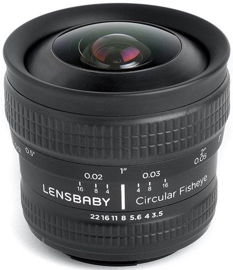 LENSBABY Circular Fisheye pro Olympus/Panasonic MFT
