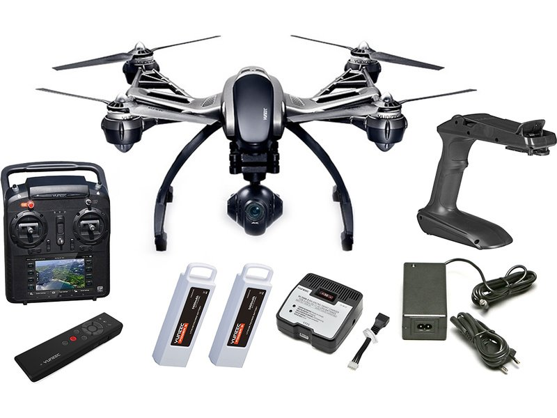 YUNEEC Typhoon Q500 4K, 2x aku, Wizard, Steady Grip - Dron