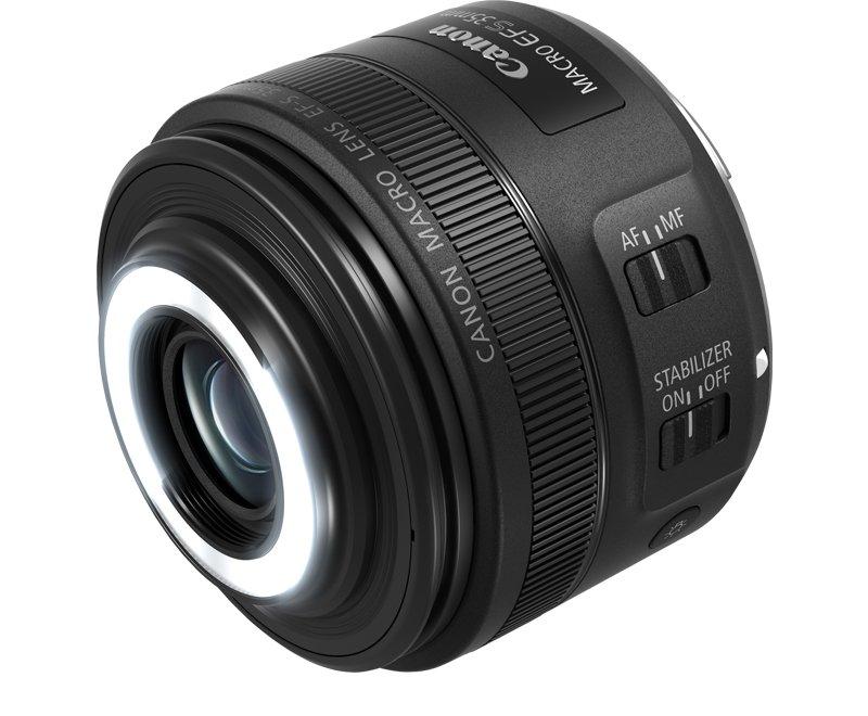 CANON EF-S 35 mm f/2,8 Macro IS STM s LED světlem