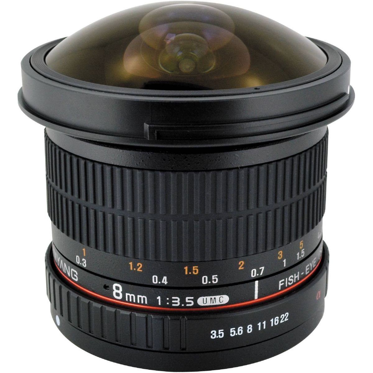 SAMYANG 8 mm f/3,5 UMC Fish-eye CS II pro Canon EOS M