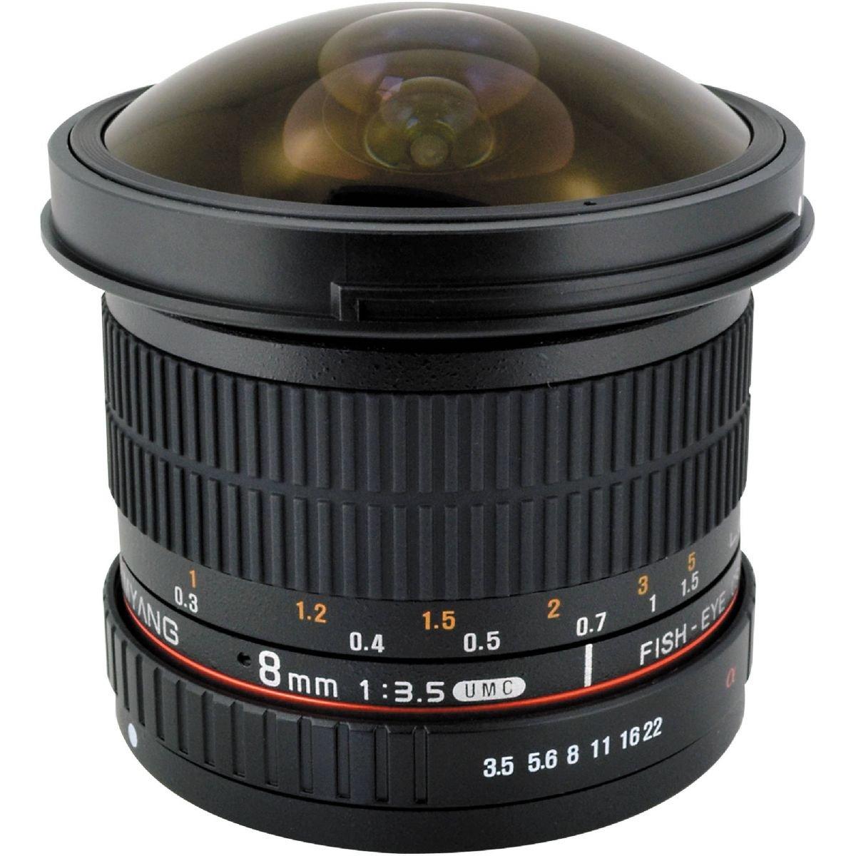 SAMYANG 8 mm f/3,5 UMC Fish-eye CS II pro Canon EOS M
