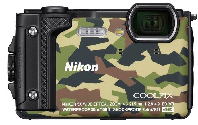 NIKON COOLPIX W300 maskáčový + plovoucí popruh