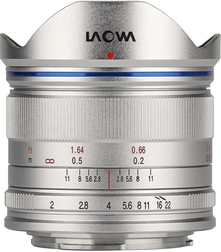 LAOWA 7,5 mm f/2 pro Olympus/Panasonic MFT stříbrný
