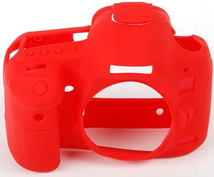EASYCOVER silikonové pouzdro pro Canon EOS 70D červené