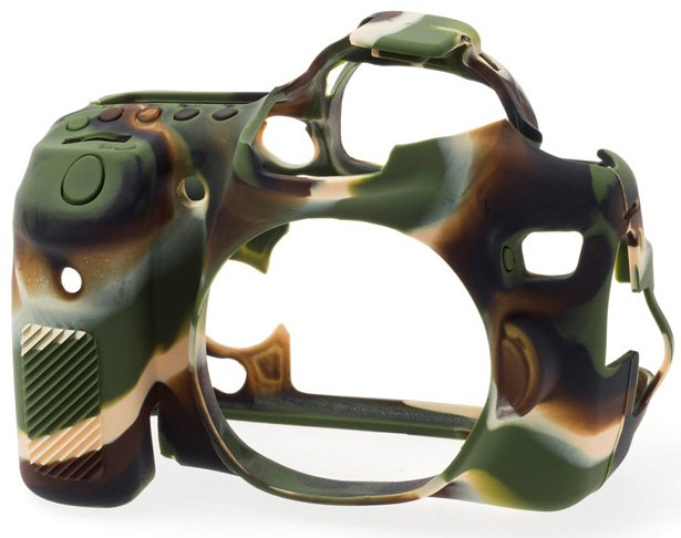 EASYCOVER silikonové pouzdro pro Canon EOS 70D camouflage