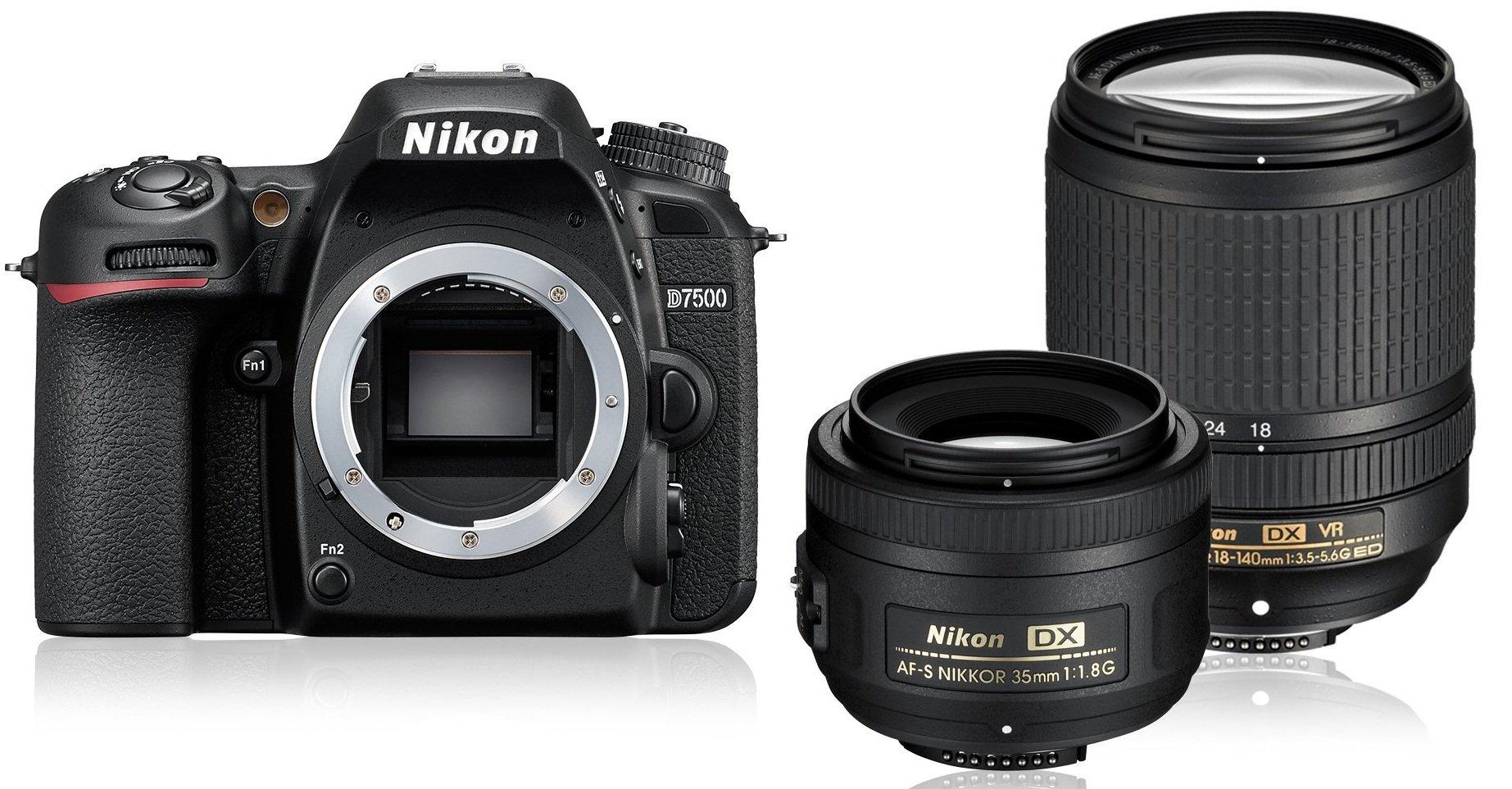 NIKON D7500 + 18-140 mm VR + 35 mm