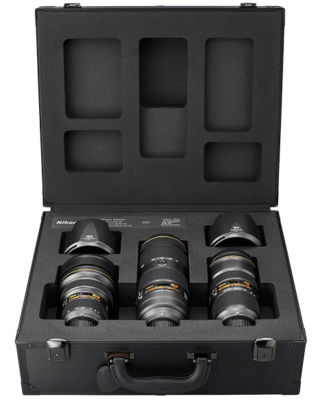 NIKON objektivy Triple Lens F2,8 Zoom kit - 100th Anniversary
