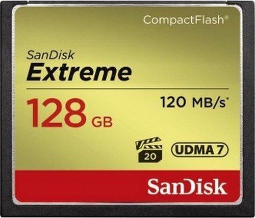 SANDISK CF 128GB EXTREME 120 MB/s UDMA 7