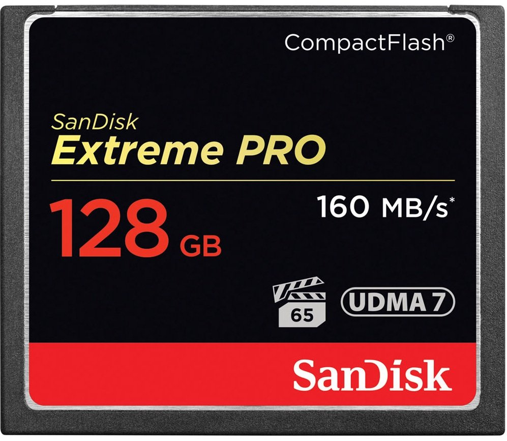 SANDISK CF 128GB EXTREME PRO 160 MB/s UDMA 7