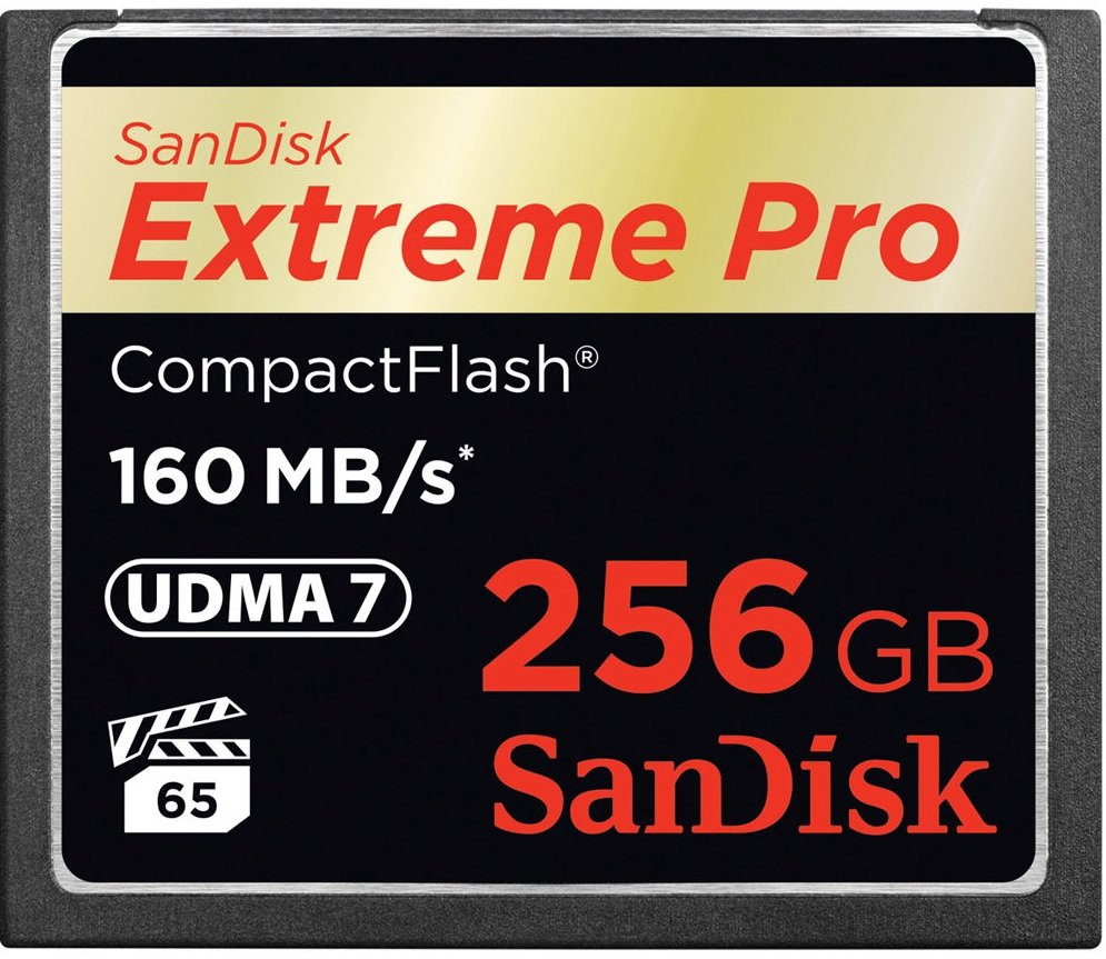 SANDISK CF 256GB EXTREME PRO 160 MB/s UDMA 7