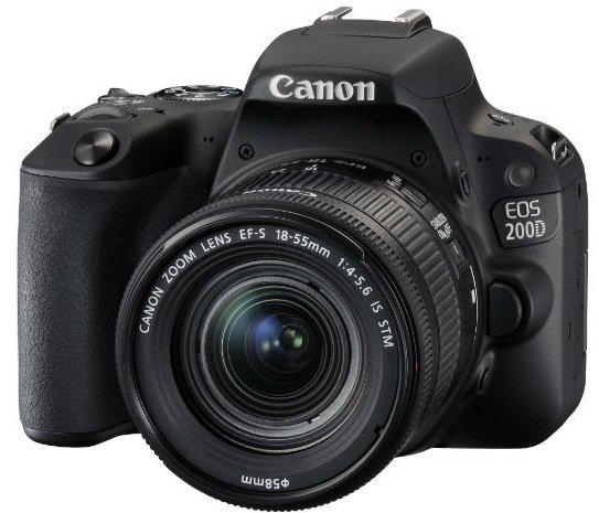 CANON EOS 200D černý + 18-55 mm IS STM