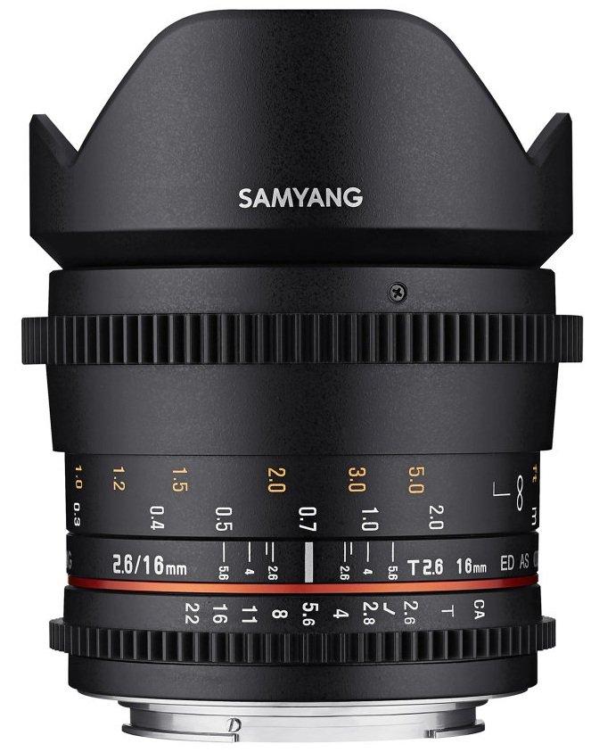 SAMYANG 16 mm T2,6 ED AS UMC pro Olympus/Panasonic MFT