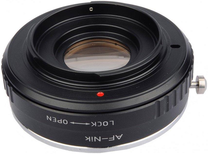 B.I.G. adaptér objektivu Sony A/Minolta Dynax na tělo Nikon s optikou