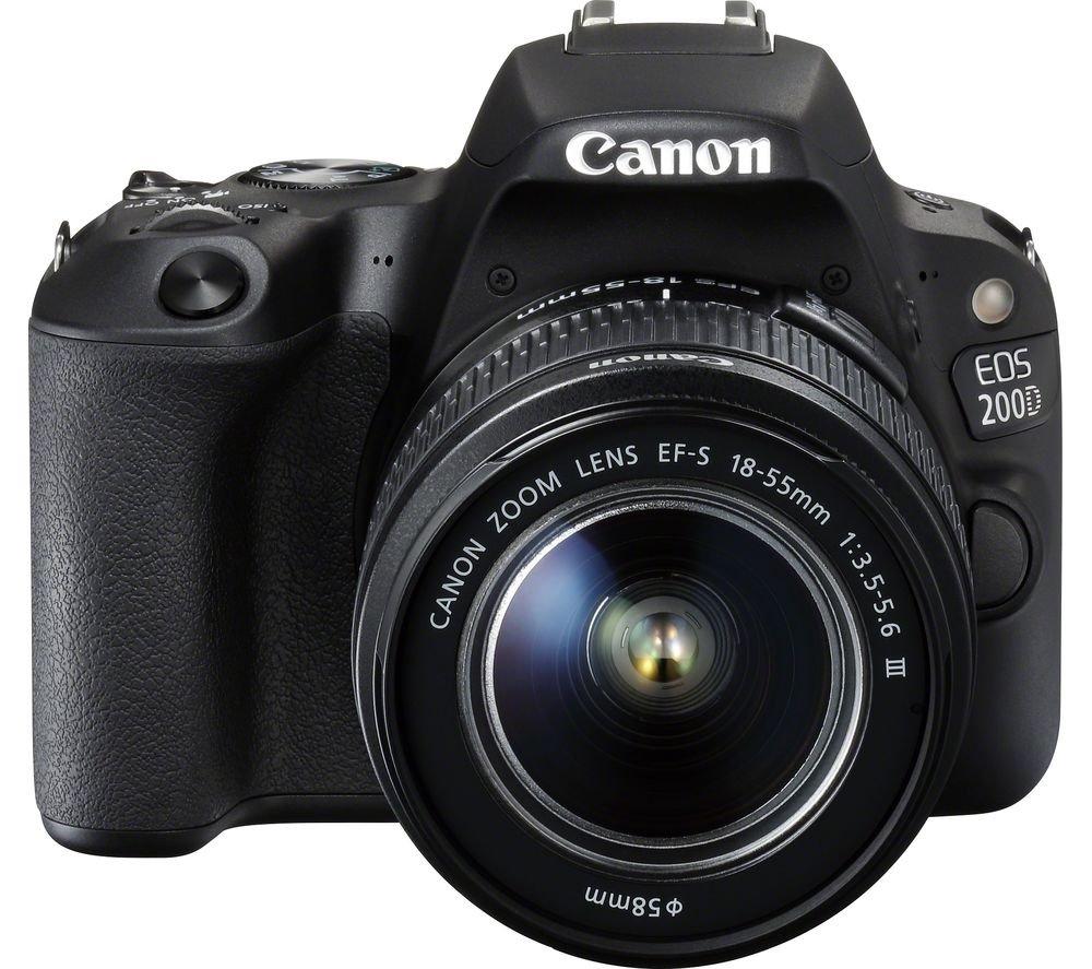 CANON EOS 200D černý + 18-55 mm